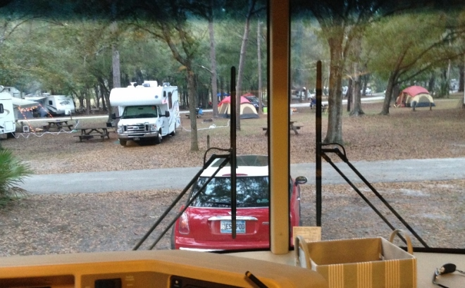 Campground view Friday evening