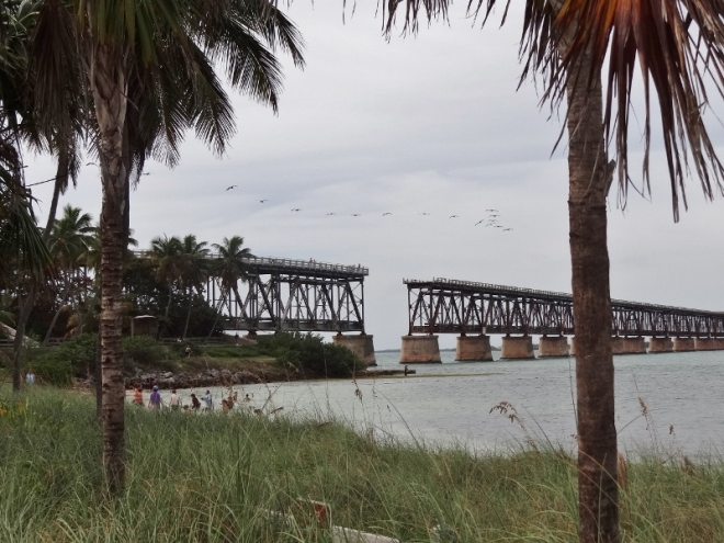 The former train and highway bridge at Bahia Honda State Park