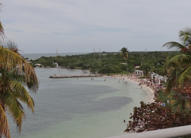Looking down from the old bridge at Bahia Honda