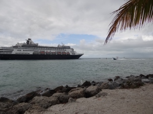Cruise ship makes her way in to the dock