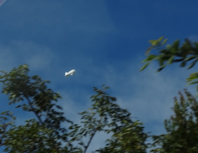 The blimp as seen from the Overseas Highway