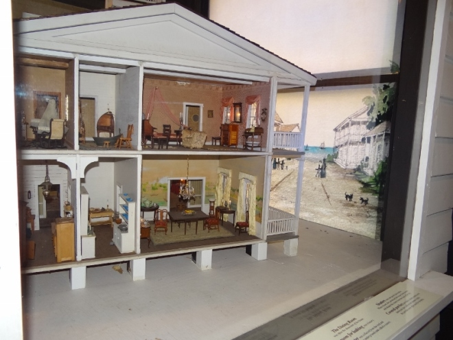 Doll house shows the interior of a Key West home in the mid 1850s