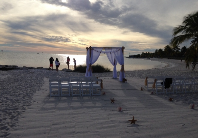 Walked by what looked to be a gorgeous setup for a beach wedding