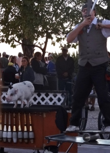 The pig act was cute and if she messed up- bacon!