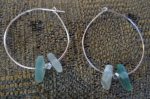 finally sea glass earrings