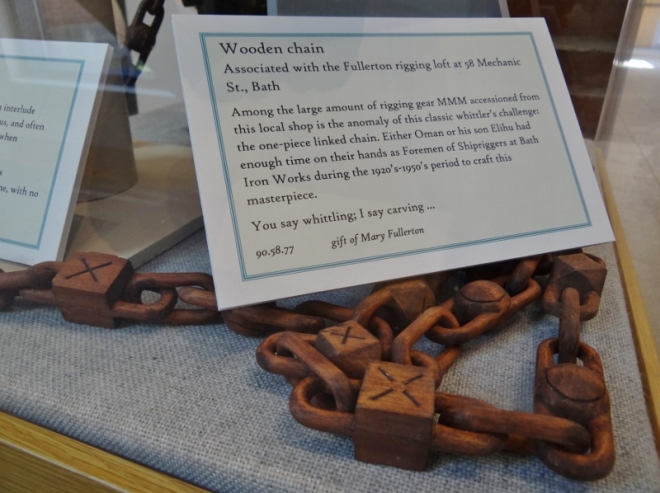 wooden carved chain