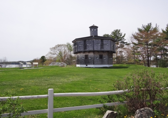 Fort Edgecomb on Sheepscot River by Wiscasset