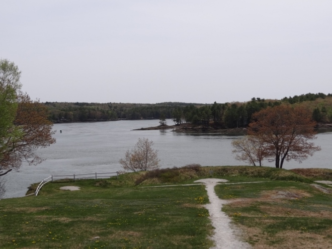 Sheepscot River- no vessel would get past the fort