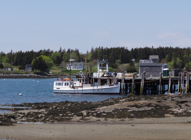 Ferry to Monhegan Island departs from Port Clyde