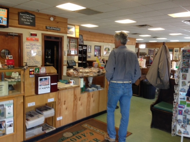 The real deal- phone booth, fresh baked goods and great food