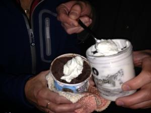 shaken heavy cream = whipped cream!