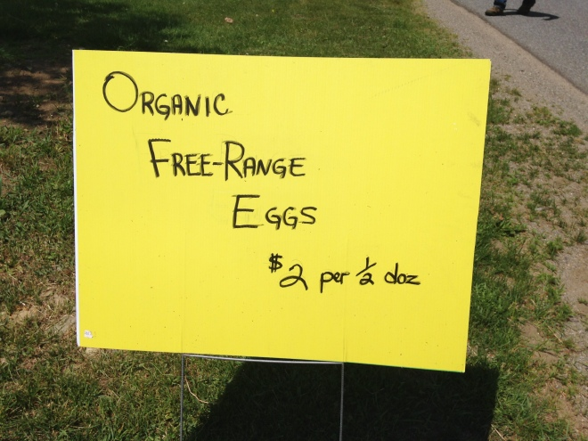 When the sign is out; the eggs are in!