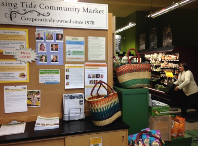 The  Rising Tide Community Market in Damariscotta