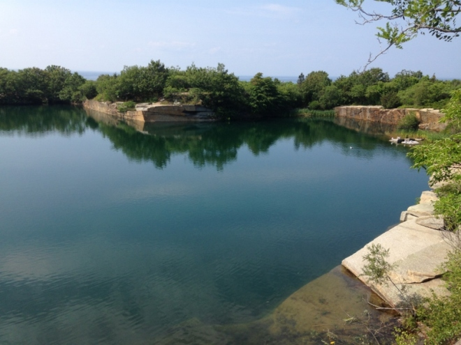 Granite quarry at Halibut Point Park