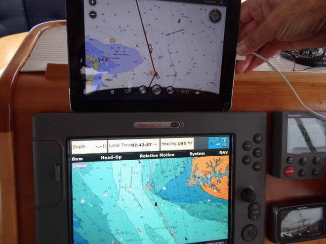 Compare iPad to Raymarine CP