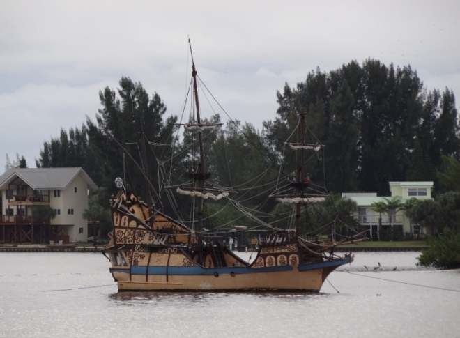 Pirate boat next to ICW Indian River