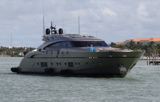 m/y Diamond heads in FT P inlet headed to ?