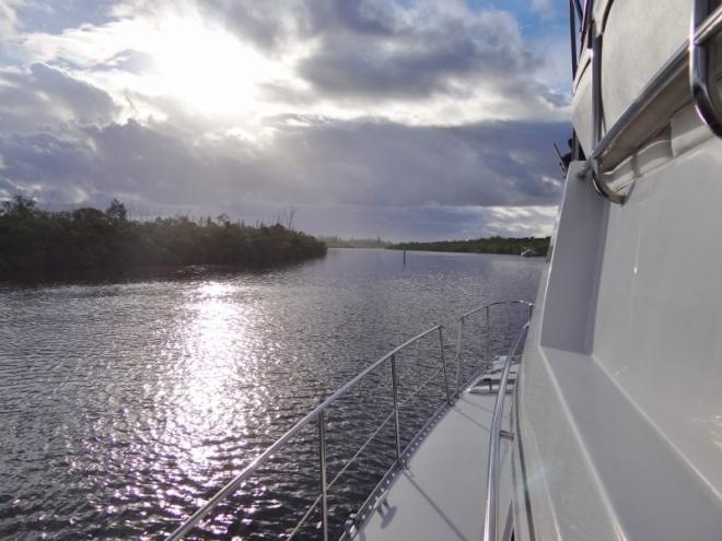 Underway from Peck Lake to Boca Raton