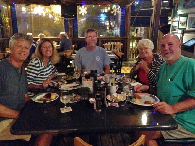 Russ Lori Rafe Charlotte and Doug at Shrimpers