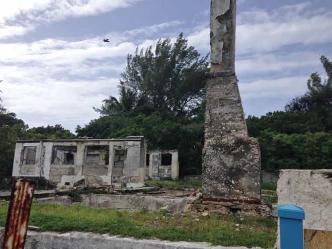 Ruins of private home that once was Bimini Rod & Gun Club