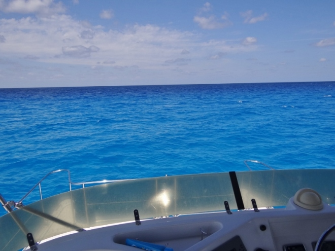 Heading into the Atlantic
