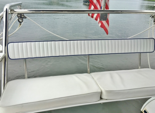 New back cushion for stern bench