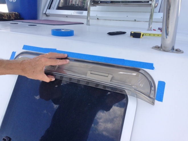 Adding Port Visors to keep rain out when hatch open