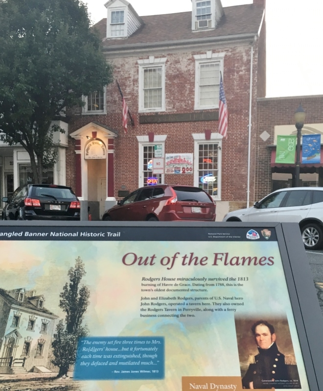 The Rodgers home survived the 1813 burning of Havre de Grace. Dating from 1787, this is the town's oldest documented structure.