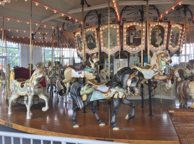 This gorgeous restored carousel has a Connecticut connection