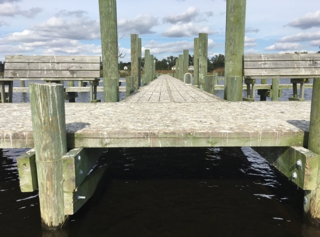 Free dock at Belhaven is COVERED with bird poop. In good condition but who'd use it? Not close to town
