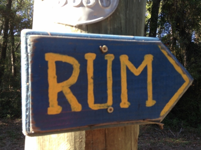 First, let's follow the RUM signs