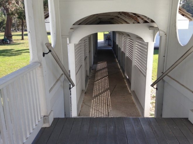 The whistling way aka breezeway at Kingsley Plantation
