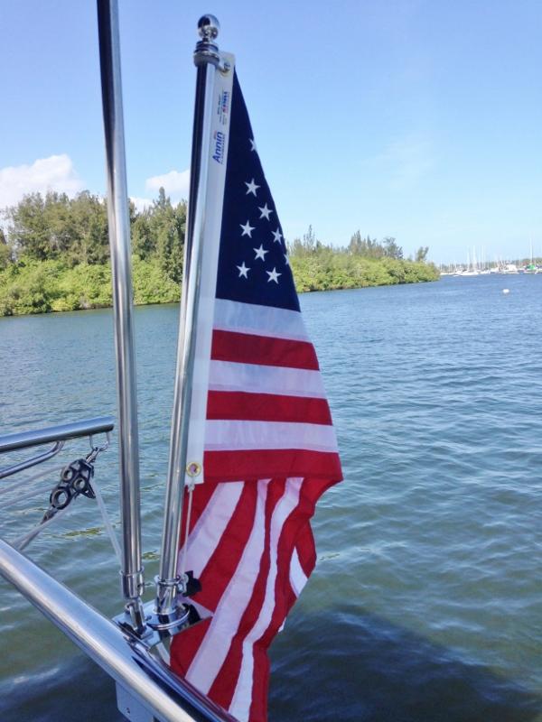 New flag on a polished pole