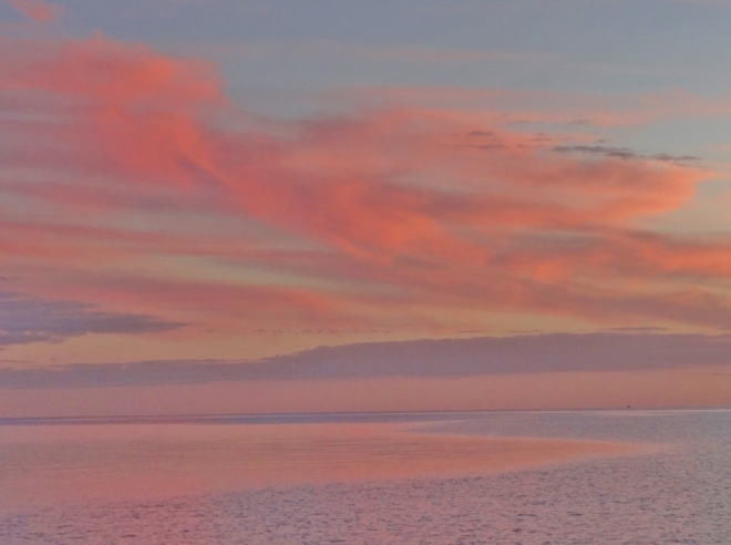 Pastel sunset at Royal Island, Eleuthera